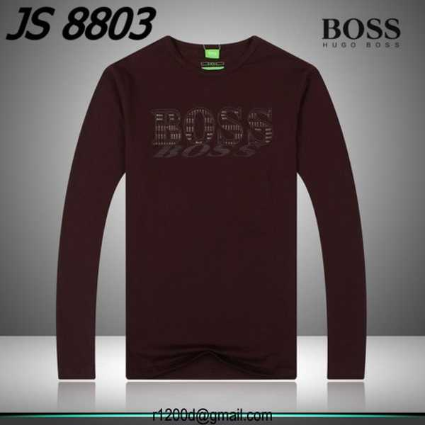 destockage t shirt hugo boss manche longue tee shirt en coton homme t shirt hugo boss manche. Black Bedroom Furniture Sets. Home Design Ideas