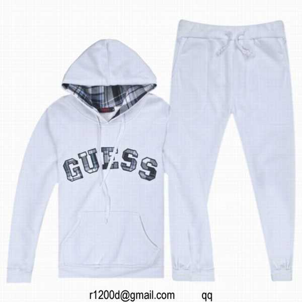 survetement guess femme blanc ensemble jogging de marque pour femme ensemble jogging guess femme. Black Bedroom Furniture Sets. Home Design Ideas